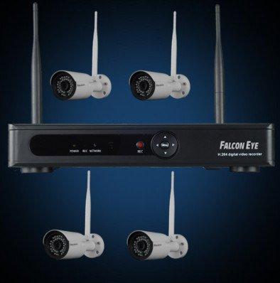 Falcon Eye Комплект Wi-Fi IP видеонаблюдения Falcon Eye FE-2104W KIT